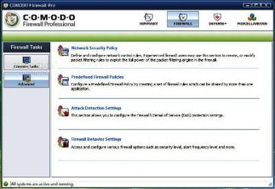 Nuevo Comodo Firewall Pro 3